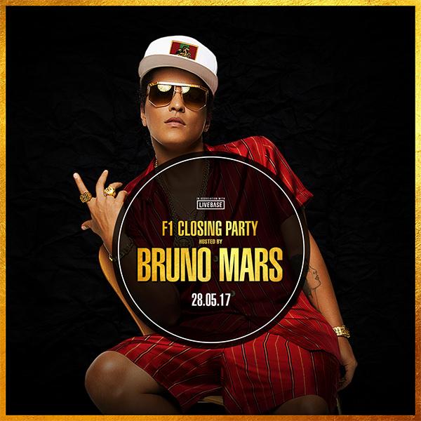 Bruno Mars - F1 Closing Party - 27th May